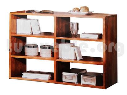 mueble estanteria en teca 4024