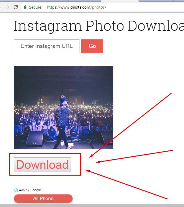 Membuka Situs Dinsta Untuk Save Foto IG 2