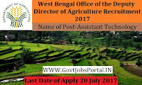 Office of the Deputy Director of Agriculture Recruitment 2017– 41 Block Technology Manger, Assistant Technology Manager