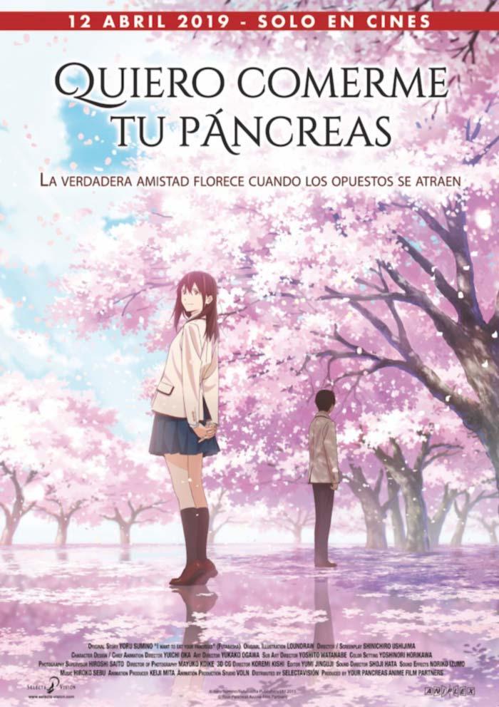 Quiero comerme tu pancreas anime poster (Selecta Vision)