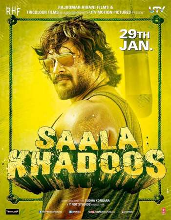 Poster Of Saala Khadoos 2016 Hindi 130MB DVDRip HEVC Mobile Watch Online Free Download Worldfree4u
