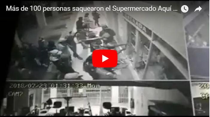 Más de 100 personas saquearon el Supermercado Aquí de Barcelona