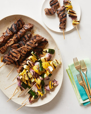 Easy Grilling with Spicy Steak & Summer Veggie Skewers