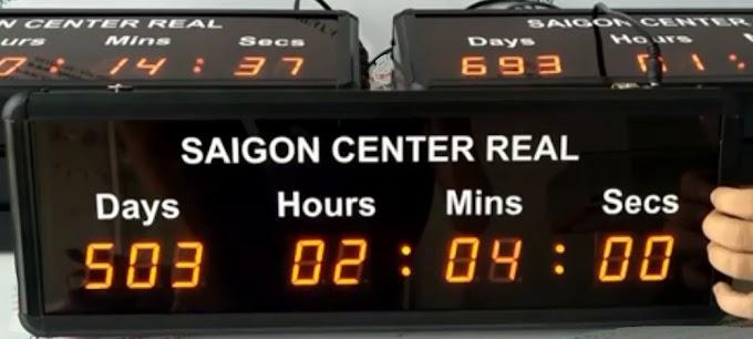 Đồng hồ dếm ngược ngày Cty SaiGon Center