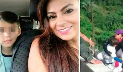 Revelan la cusa por la que madre se lanzó de puente con su hijo de 10 años en Colombia