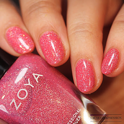 Nail polish swatch of Cadence from the trio of holographic polishes from the Winter Holo collection by Zoya