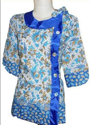 Model Baju Batik Kancing Samping