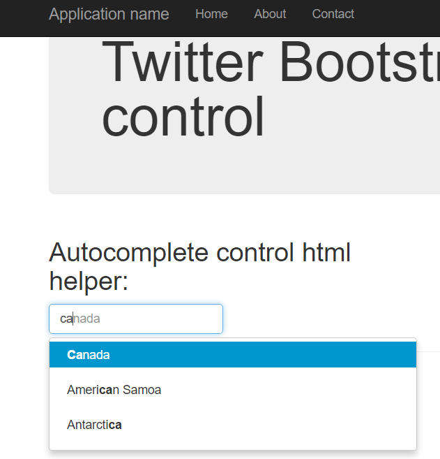 Coding Grounds: Twitter 3 Bootstrap Autocomplete Control