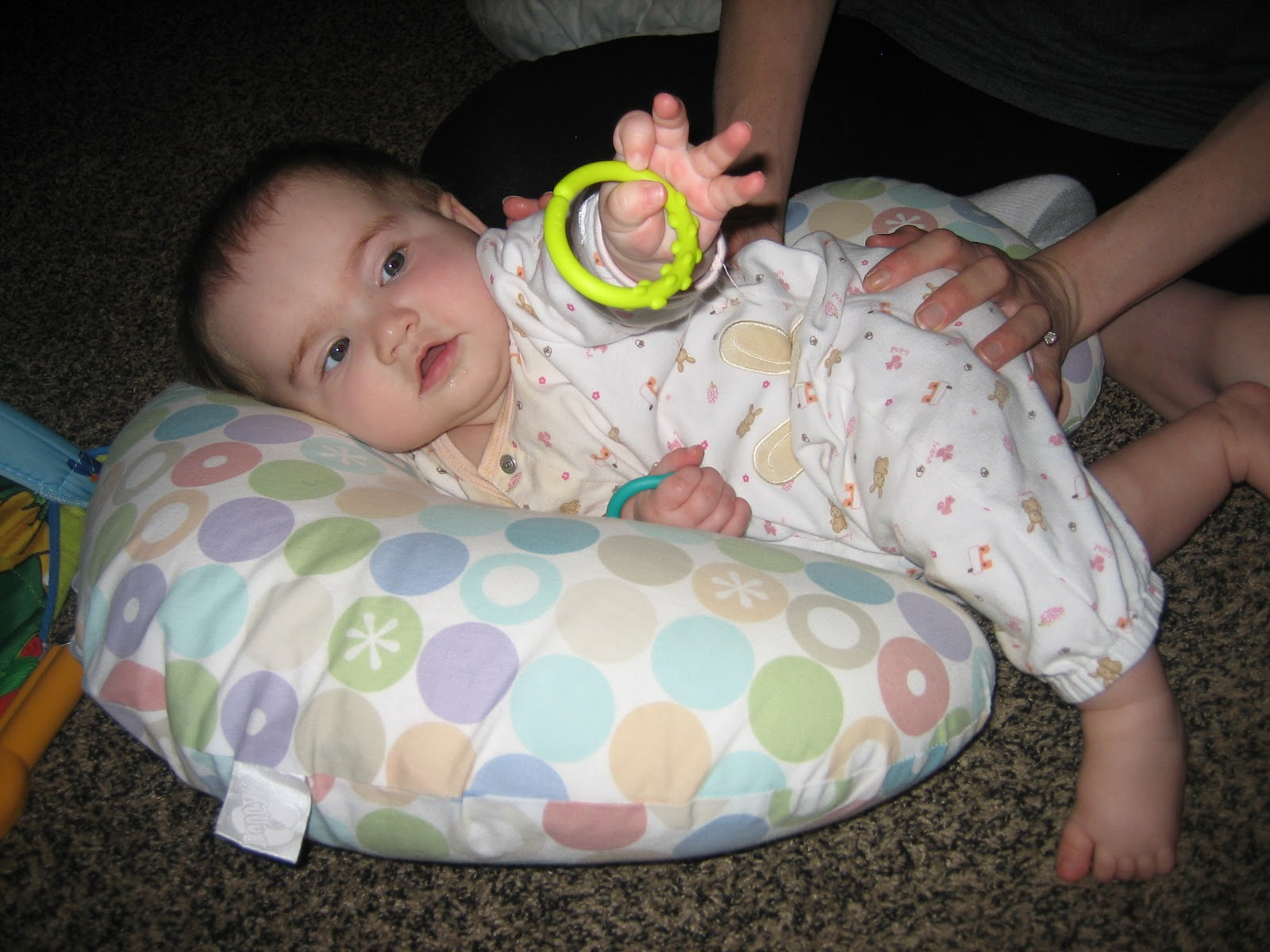 My Torticollis Baby Side Lying Torticollis Stretch Using