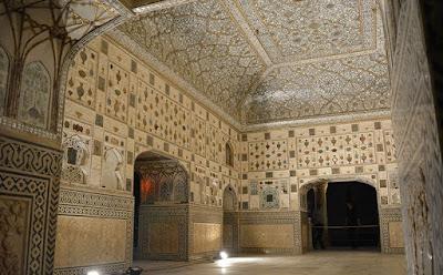 Sheesh-Mahal-at-Amer-Fort-Jaipur, heritageofindia, Indian Heritage, World Heritage Sites in India, Heritage of India, Heritage India