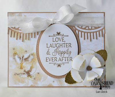 Our Daily Bread Designs Stamp Set: Happily Ever After, Paper Collection: Wedding Wishes, Custom Dies: Beautiful Borders,  Roses, Rose Leaves, Ovals, Stitched Ovals