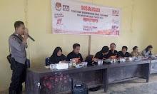 Sosialisasi Tata Cara Pencoblosan Pilkada Kalbar di Belitang