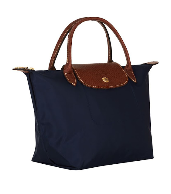 Longchamp Navy Le Pliage Small Handbag
