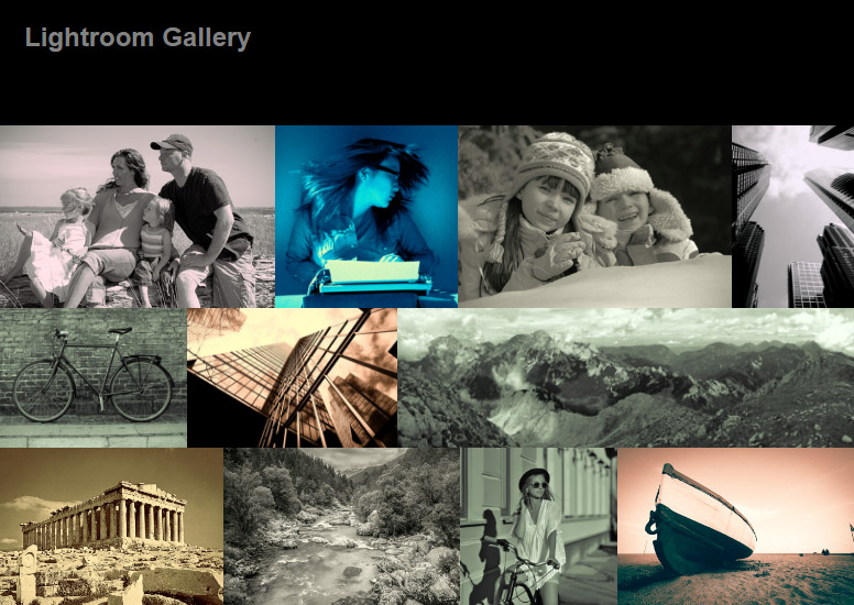 How to Create HTML Web Photo Gallery in Photoshop Lightroom Classic