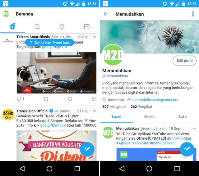 download twitter lite apk android