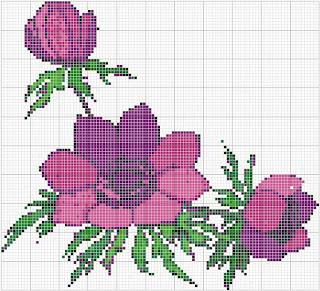 Gráfico ponto cruz Flores