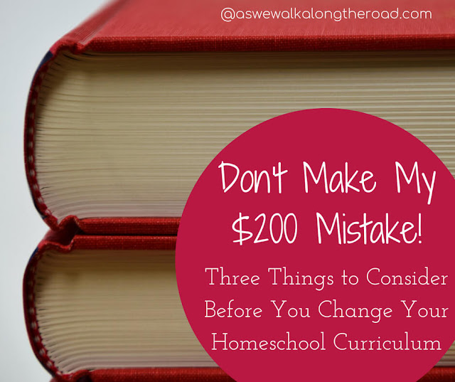 Things to consider when changing homeschool curriculum