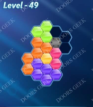 Block! Hexa Puzzle [Intermediate] Level 49 Solution, Cheats, Walkthrough for android, iphone, ipad, ipod
