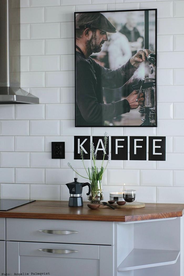 annelies design, webbutik, kaffe, espresso, bryggare, dekoration, tavla, barista, vykort med bokstäver, kaffebönor, kök, poster, kökstavla, tavlor