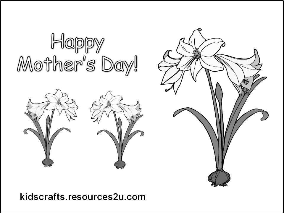 free mom days 2 coloring pages