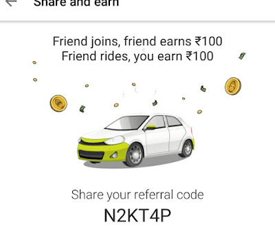Olacabs Refer & Earn – Get 100 Rs on Signup & 100 Per Refer