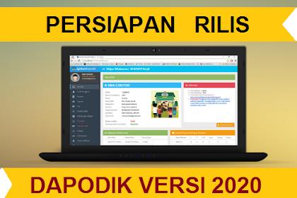 Dapodikdasmen 2020 (Tunggu rilis)   Download Aplikasi  di http://dapo.dikdasmen.kemdikbud.go.id/unduhan