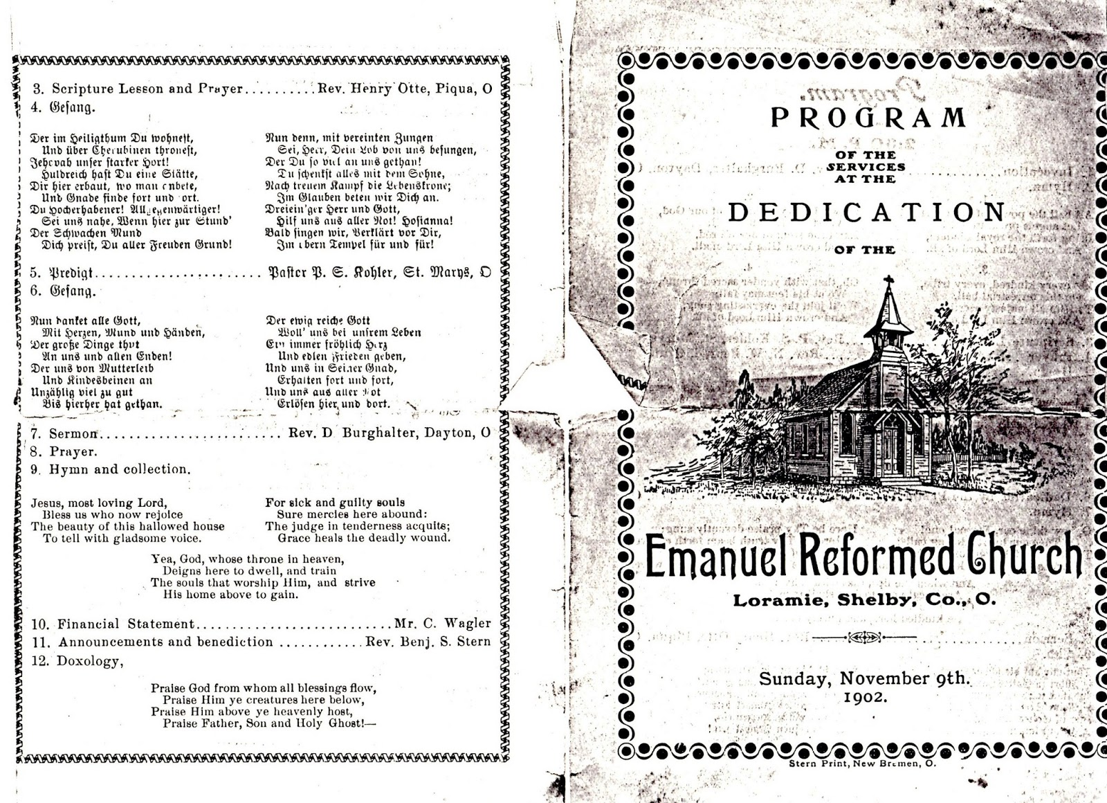 Boerger Pictorial History: Emanuel Reformed Church