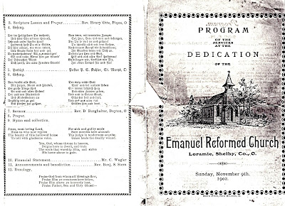 Boerger Pictorial History: Emanuel Reformed Church