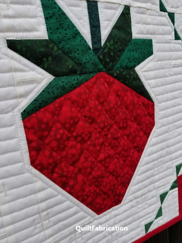 Strawberry Splendor strawberry quilting with seeds