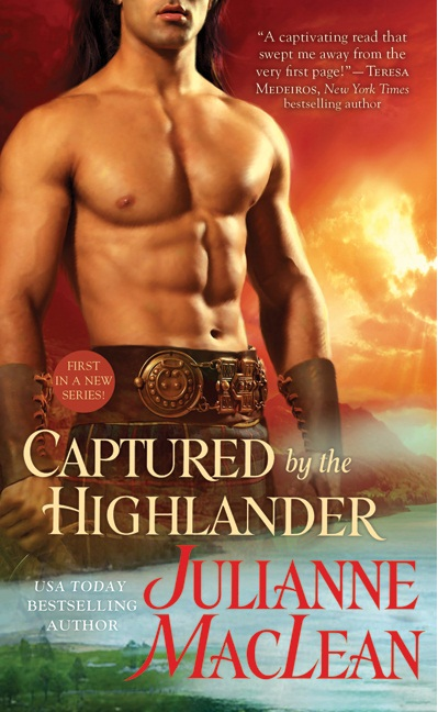 waxed buff male body on highland romance cover