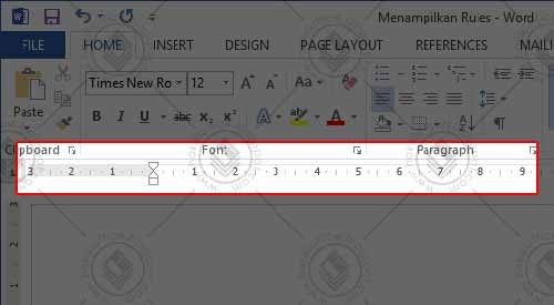 Menampilkan ruler penggaris di ms word 2013