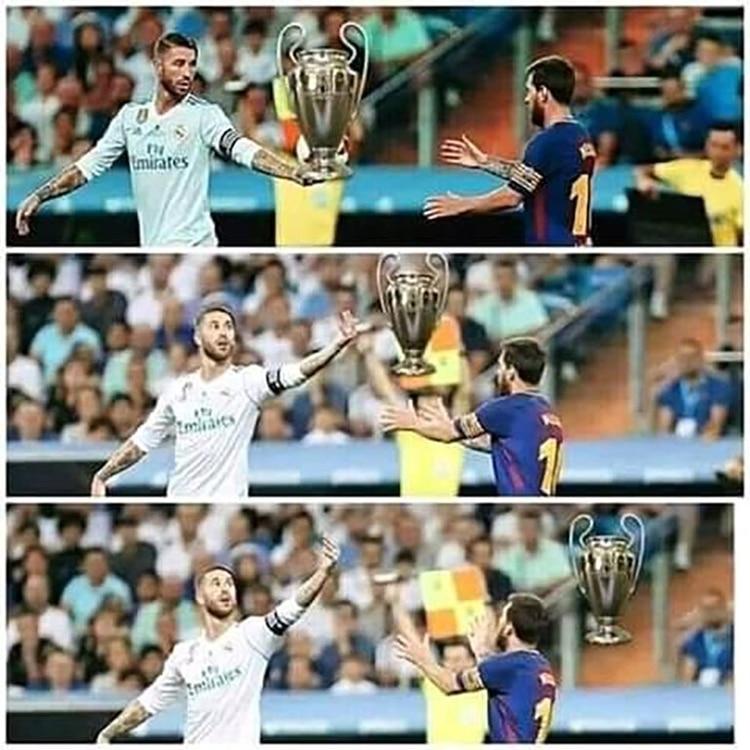 Meme Vignette Divertenti eliminazione Barcellona a Liverpool Foto 2.