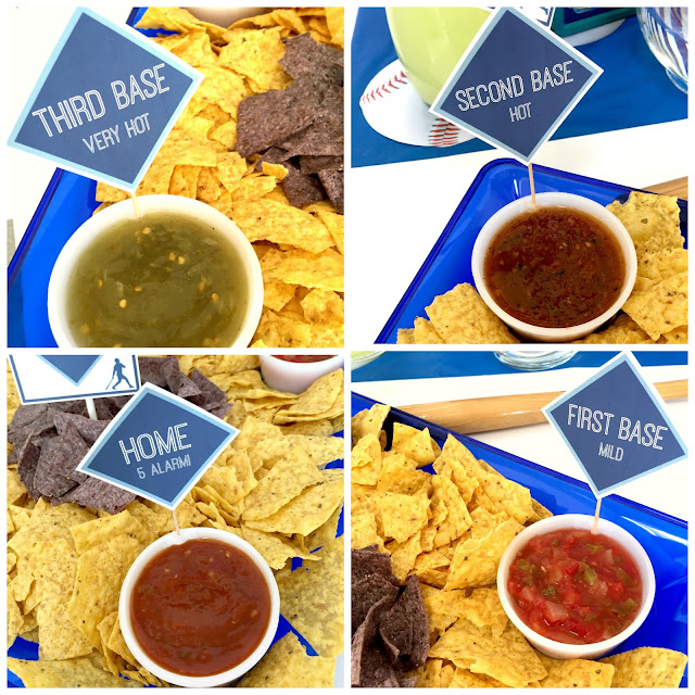 Baseball Foods--Chip display as a baseball infield.