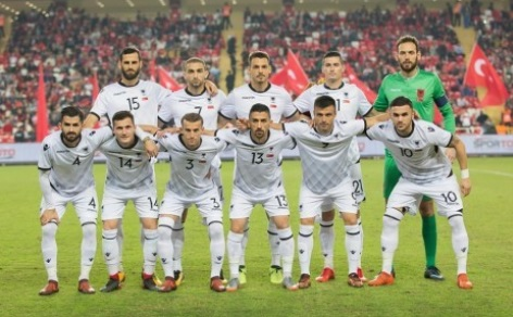 Albanian team photos before the match with turkey