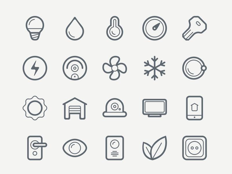 40 Free Smart House Icon Set