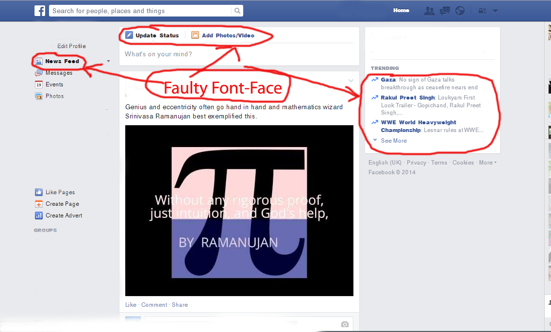 How to Fix Helvetica Neue Font Issue in Facebook while using