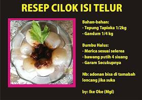 Resep Cilok Isi Telur dan Cara Membuatnya