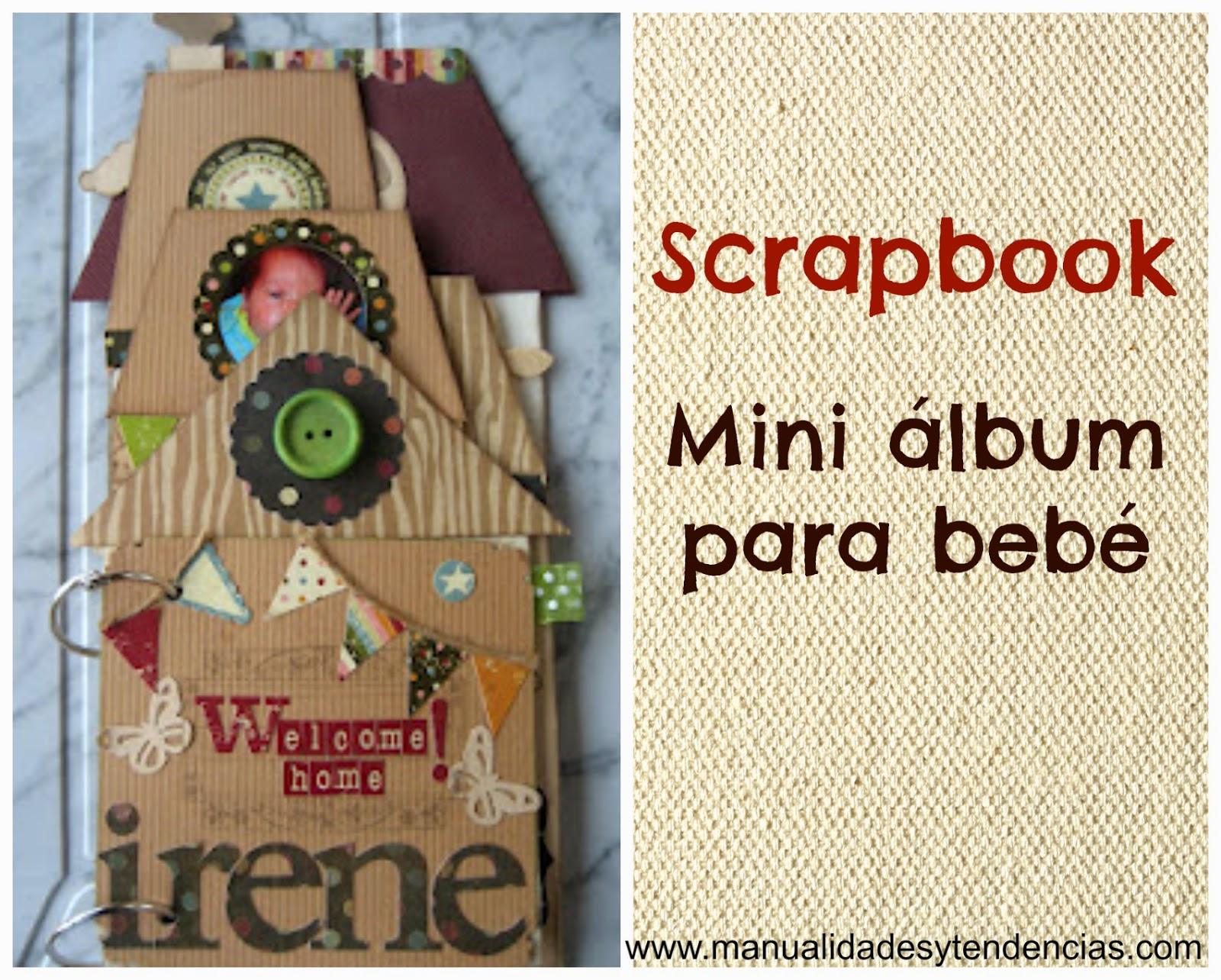 Scrapbooking: mini álbum para un bebé / Baby album