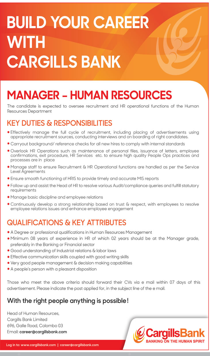 Manager - Human Resources