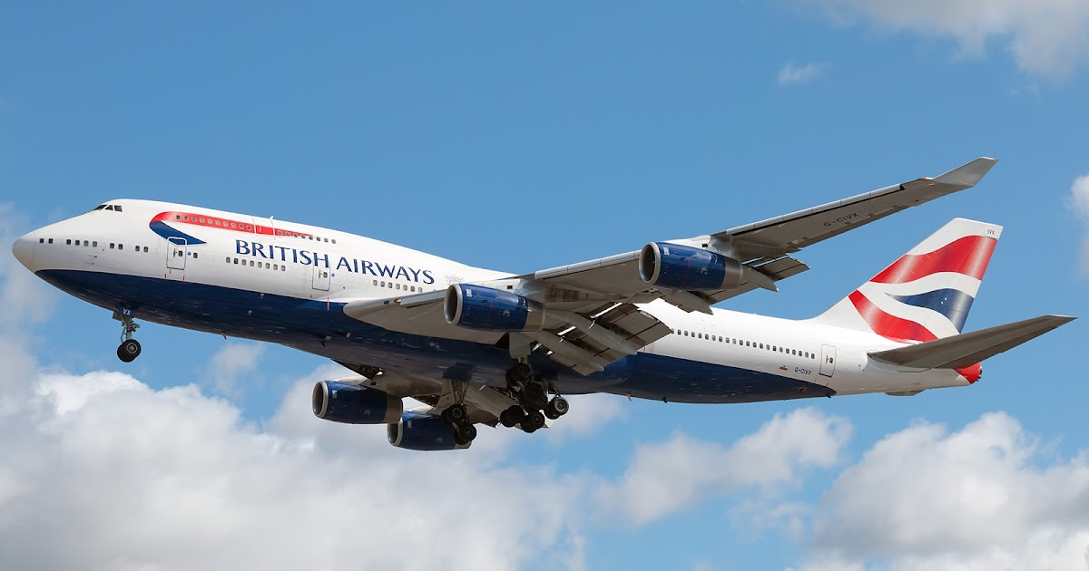Boeing 747 400 Of British Airways Approaching To Landing