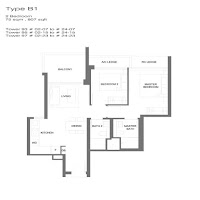2 Bedrooms Floor Plan
