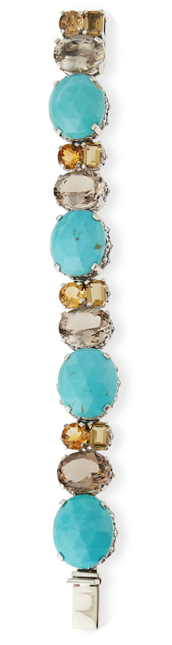 Stephen Dweck Turquoise Quartz Link Bracelet