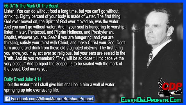 To reject the Gospel is to be sealed with the mark of the beast - William Branham Quotes