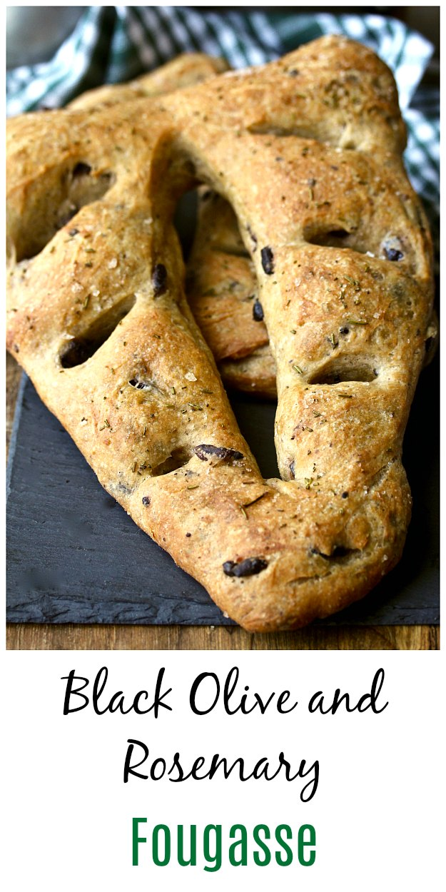 Black olive Fougasse Provençal Bread #fougasse #bread #artisanbread