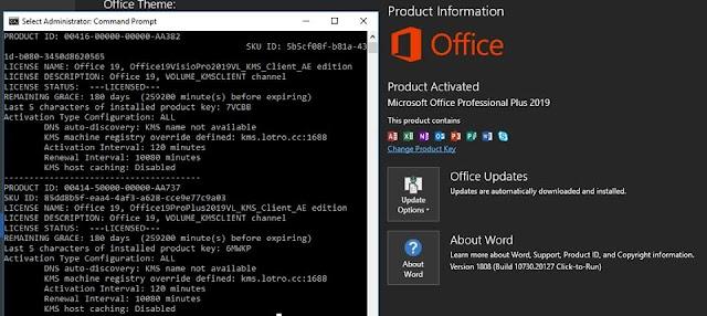 [Tips] Batch kích hoạt Office 2019  với KMS Server áp dụng cho cả Retail + VL
