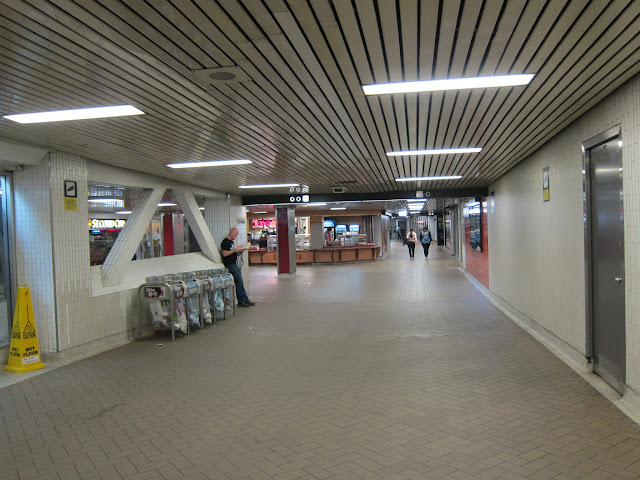 Mezzanine at Eglinton subway station