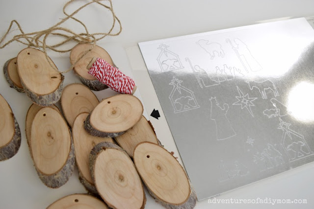 supplies for wood slice ornaments