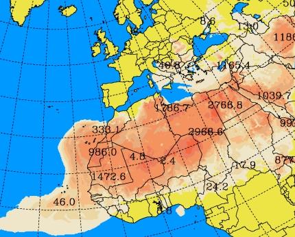 Calima prevista en Canarias entre el lunes 4 y el miércoles 6 de febrero