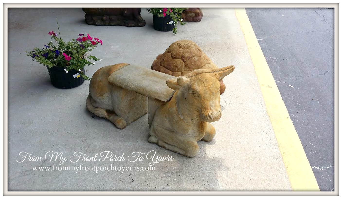 From My Front Porch To Yours- French Country Cow Bench