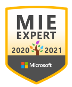 Microsoft Innovative Educator Expert. MIEExpert 2020/2021
